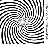 a black and white spiral... | Shutterstock .eps vector #697287250