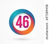stylized number 46 design... | Shutterstock .eps vector #697289458
