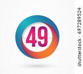 stylized number 49 design... | Shutterstock .eps vector #697289524