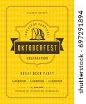 oktoberfest beer festival... | Shutterstock .eps vector #697291894