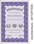 violet certificate of... | Shutterstock .eps vector #697297534