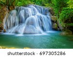huai mae khamin waterfall in... | Shutterstock . vector #697305286