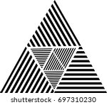 design template . triangle logo ... | Shutterstock .eps vector #697310230