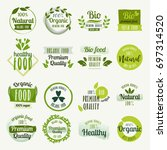 set of hand drawn stickers ... | Shutterstock .eps vector #697314520