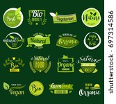 set of hand drawn stickers ... | Shutterstock .eps vector #697314586