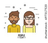 colorful poster of people team...   Shutterstock .eps vector #697317520
