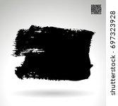 black brush stroke and texture. ... | Shutterstock .eps vector #697323928