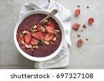 healthy breakfast acai bowl   Shutterstock . vector #697327108