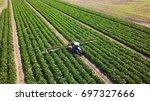 agricultural sprayer   tractor... | Shutterstock . vector #697327666
