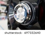 volume button on chrome radio | Shutterstock . vector #697332640