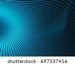 elegance blue wave stripe...   Shutterstock . vector #697337416
