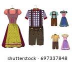traditional german  bavarian ... | Shutterstock .eps vector #697337848