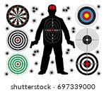 target shoot set | Shutterstock .eps vector #697339000