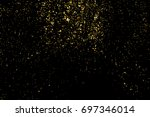 gold glitter texture isolated... | Shutterstock .eps vector #697346014