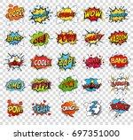 comic speech bubbles or sound... | Shutterstock .eps vector #697351000