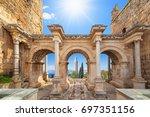 welcome to amazing antalya... | Shutterstock . vector #697351156