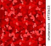 red hearts confetti valentine's ... | Shutterstock .eps vector #69735613