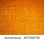 basket textile texture pattern... | Shutterstock . vector #697358758