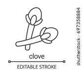 clove linear icon. thin line... | Shutterstock .eps vector #697358884