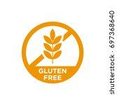 Gluten free vector icon.