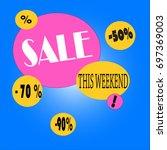 sale. vector illustrations for... | Shutterstock .eps vector #697369003