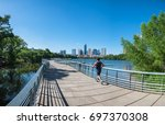 panorama view downtown austin ... | Shutterstock . vector #697370308