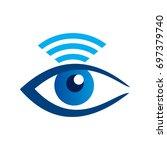 visual eyes internet logo | Shutterstock .eps vector #697379740