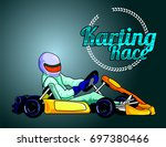 karting race | Shutterstock .eps vector #697380466