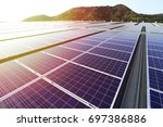 solar pv rooftop beautiful... | Shutterstock . vector #697386886