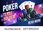 illustration of casino chips ... | Shutterstock .eps vector #697390354