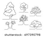 Set Of Trees   Continuous Line...