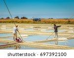 noirmoutier  france   july 03 ... | Shutterstock . vector #697392100