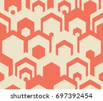 seamless geometric pattern.... | Shutterstock .eps vector #697392454