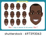 set of male facial emotions.... | Shutterstock .eps vector #697393063