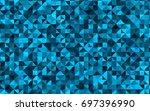 light blue vector low poly... | Shutterstock .eps vector #697396990