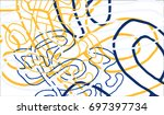 abstract background with... | Shutterstock .eps vector #697397734
