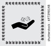 vector dice icon | Shutterstock .eps vector #697398148