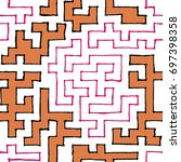 seamless labyrinth. colorful... | Shutterstock .eps vector #697398358