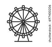 ferris wheel | Shutterstock .eps vector #697400206