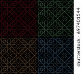 black backgrounds with colored... | Shutterstock .eps vector #697401544