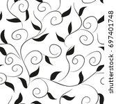 abstract seamless oriental... | Shutterstock .eps vector #697401748