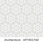 abstract seamless oriental... | Shutterstock .eps vector #697401760