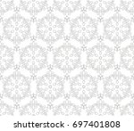 abstract seamless oriental... | Shutterstock .eps vector #697401808