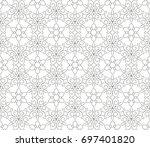 abstract seamless oriental... | Shutterstock .eps vector #697401820