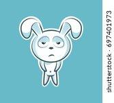 sticker emoji emoticon  emotion ... | Shutterstock .eps vector #697401973