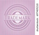 trademark retro style pink... | Shutterstock .eps vector #697405210