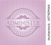 administer pink emblem. retro | Shutterstock .eps vector #697409464