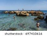 kelibia  tunisia   august 13 ... | Shutterstock . vector #697410616