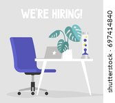we're hiring. join our team.... | Shutterstock .eps vector #697414840