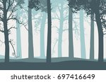 vector illustration of tree... | Shutterstock .eps vector #697416649